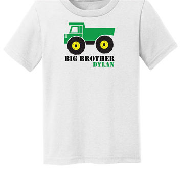 Big brother t shirt Tractor Tee Shirt Cute Shirt Big brother Big bro Custom Name Birthday Gift