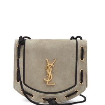 Monogram medium suede cross-body bag | Saint Laurent | MATCHESFASHION.COM US