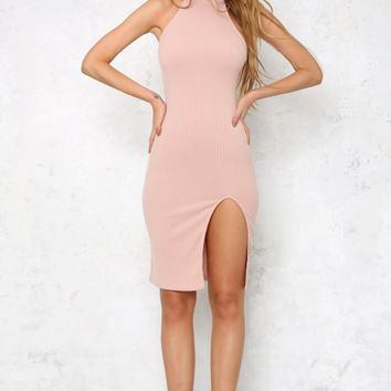 Beautiful Soul Midi Dress Dusty Pink