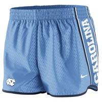 Nike North Carolina Tar Heels (UNC) Womens Chainmaille Pacer Performance Shorts - Carolina Blue