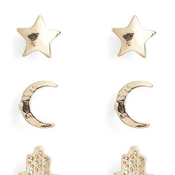 Ettika Set of 4 Stud Earrings | Nordstrom