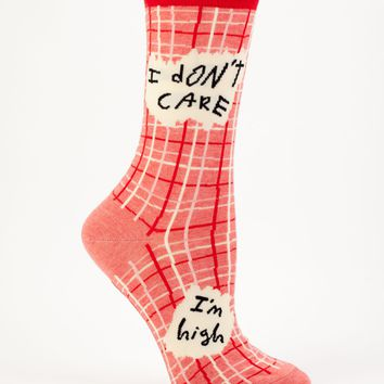 I Don't Care, I'm High Women's Crew Socks