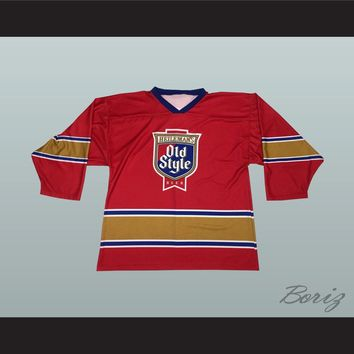 Heileman's Old Style Beer Red Hockey Jersey