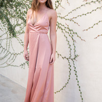 Garbo Rosegold Wrap Dress