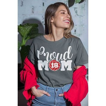 Men's Personalized Volleyball Mom T Shirt Proud Volleyball Mom Shirts Volleyball Mom Shirt Personalized Shirts