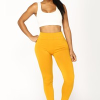 Yes Fleece III Leggings - Mustard