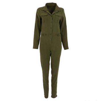 Stylish Women Sexy Jumpsuit Long Sleeve Jumpsuits Cotton Rompers Clubwear Romper SM6