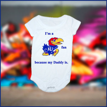 My Daddy is A Jayhawks Fan Baby Onesuit