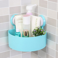 Bathroom Corner Storage Rack Organizer Shower Wall Shelf with Suction Cup Home Bathroom Shelves