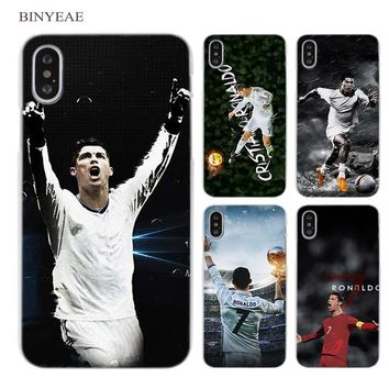 BINYEAE cr7 cristiano ronaldo soccer Clear Cell Phone Case Cover.  Compatible iPhone Model  iPhone 7 ... 0abb1a1f3