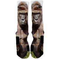 Big Harambe Gorilla Custom Nike Elite Socks