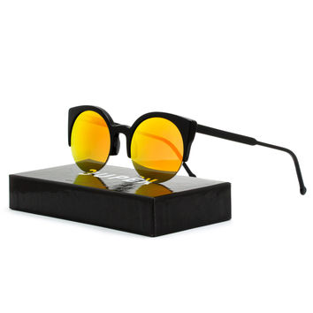 Super 50D Sunglasses Lucia Cove Black with Orange Zeiss Mirrored Lens