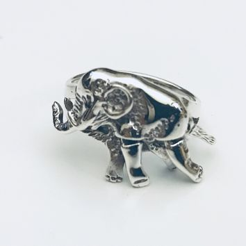Elephant Ring, Moveable Ring, Elephant Jewelry, Animal Ring, Sterling Silver Ring, Safari Ring, Gifts for Her