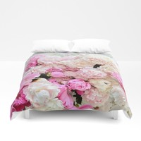 summer peonies Duvet Cover by sylviacookphotography
