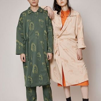 DMD Unisex Childhood Trench Coat | Yellow/Green