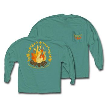 "*Closeout* Southern Raised ""Campfire"" Tee on Comfort Colors Long Sleeve"