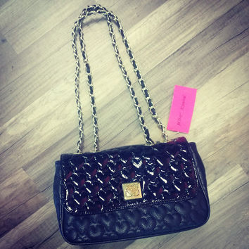 Betsey Johnson Handbag Black Qulited