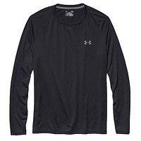 Men's UA Tech™ Long Sleeve T-Shirt in Black by Under Armour - FINAL SALE