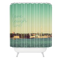 Happee Monkee Love Laugh Live Stockholm Shower Curtain