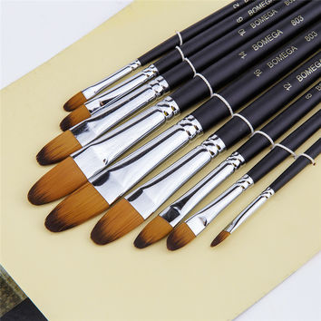 Oil Acrylic 9 Paint Brushes Set