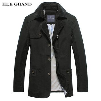 HEE GRAND Men's Casual Blazers Hot Sale Leisure Suit Fashion Slim Fitted Blazers Single Breasted Costume Homme Size M-3XL MWX349