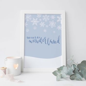 Winter Wonderland Wall Art Print