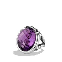 DY Signature Oval Ring with Amethyst
