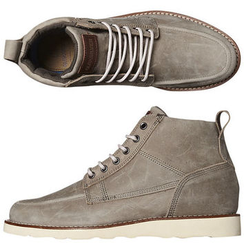 SURFSTITCH - FOOTWEAR - MENS FOOTWEAR - BOOTS - QUIKSILVER SHEFFIELD LEATHER BOOT - GREY GREY OFF WHITE