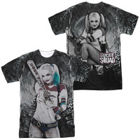Suicide Squad Harley Quinn Tunnel Vision Sublimated Mens T-Shirt