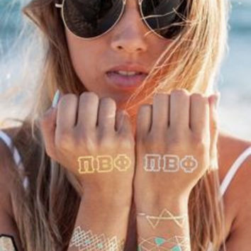 Sorority Metallic Tattoos