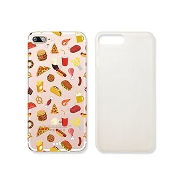 Fast Food Hamburger Hot Dog Slim Iphone 7PLUS Case, Clear Iphone7 Plus ard Cover Case For Apple Iphone 7PLUS -Emerishop (iphone 7 plus)
