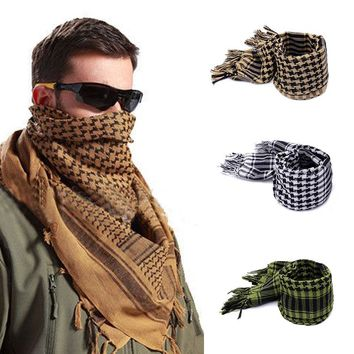 Hot New 2017 Military Arab Tactical Desert Scarf Army Shemagh KeffIyeh Shawl Scarve Neck Wrap