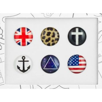 Bubble Buttons Home Button Sticker Hipster Pack
