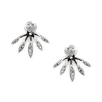 Sterling Silver CZ Ear Jacket