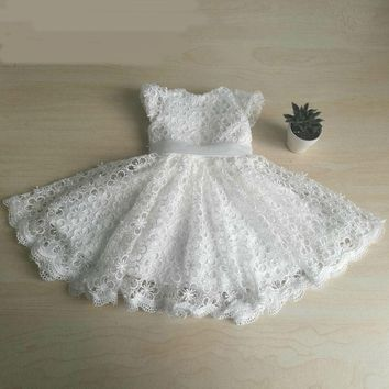 Cute Lace Flower Cape Sleeves dresses for girls