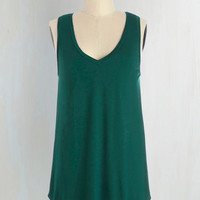 Mid-length Sleeveless Endless Possibilities Top in Forest