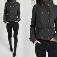 Cashmere Double Breasted Military Coat