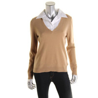 Lauren Ralph Lauren Womens Knit Long Sleeves Pullover Sweater