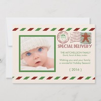 Special Delivery Airmail Christmas Flat Card
