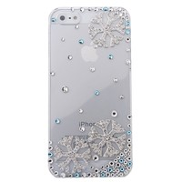 MinisDesign® SnowFlake Series 3D Blue Crystal Winter Snowflake iPhone 5 Case Cover for The Snowing Season (Fits: At&t, Sprint, Verizon)