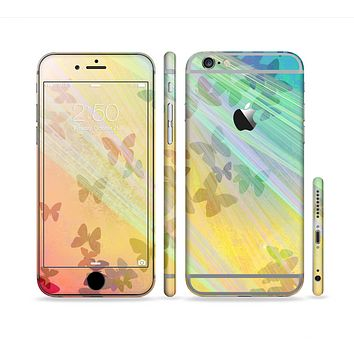 The Abstract Color Butterfly Shadows Sectioned Skin Series for the Apple iPhone 6