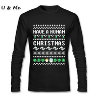Pro Club DIY T Shirts Men Rick & Morty Pre-cotton Christmas Sweater Tee Shirt Homme Tops