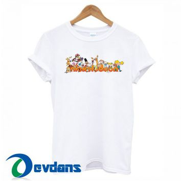 Nickelodeon Character T Shirt For Women And Men Size S To 3XL