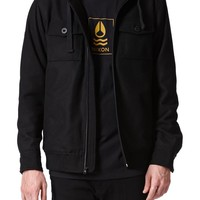 Nixon Captain Quilted Jacket - Mens Jacket - Black