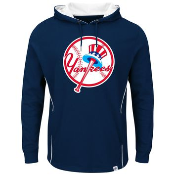 New York Yankees  Men's Majestic Navy Lefty/Righty Pullover Hoodie