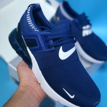 DCCK N406 Nike Air Max 270 2018 Mesh Knit Cushion Running Shoes Dark Blue White