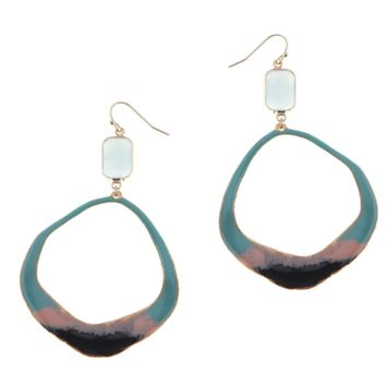 Nakamol Amazonite Oval Hoop Earrings