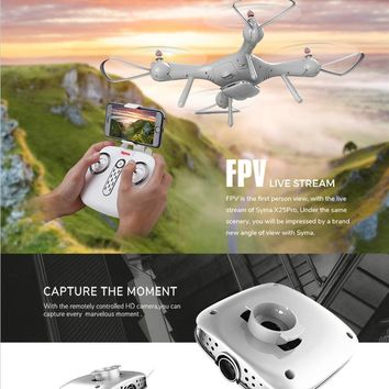 2018 GPS Follow Me RC Drone X25PRO X8PRO upgrade Altitude Hold Headless Mode Wifi FPV RC Quadcopter drone 720P HD Camera vs X3