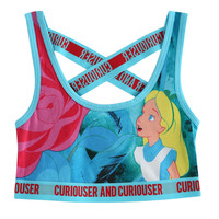 Disney Alice In Wonderland Curiouser Sports Bra