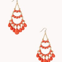 FOREVER 21 Faux Stone Chandelier Earrings
